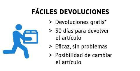 FÁCILES DEVOLUCIONES